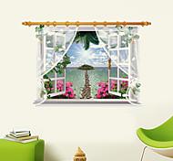 Botânico / Desenho Animado / Romance / Moda / Floral / Feriado / Paisagem / Formas / Transporte / Fantasia / 3D Wall StickersAutocolantes