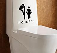 Still Life Toilet / Washroom Wall Stickers Shapes / Vintage / People Wall Stickers Plane Wall Stickers,vinyl 16*10cm
