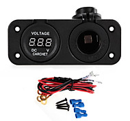 CARCHET Car Motorcycle LED Digital Display Voltmeter Meter