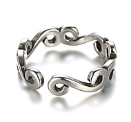 Ring Vintage Daily / Casual Jewelry Silver / Sterling Silver Band Rings 1pc,Adjustable Silver