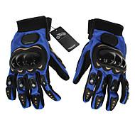 Guantes de moto Dedos completos Cuero / Algodón / Nailon / Malla / ABS M / XL Azul