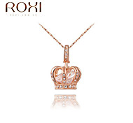ROXI Golden Crown Zircon Pendant Necklace Jewelry