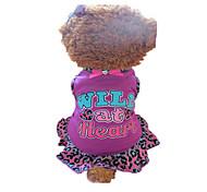Hunde Kleider Rose Hundekleidung Sommer Herzen / Tier