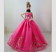 Barbie Doll-Abiti-Party & Sera- diRaso / Pizzo-Rosa-Abiti