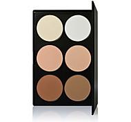 Brightly Makeup Palette Women 6 Colors Concealer Tone Base Makeup Skin Color Cover Foundation Contour Face Cream