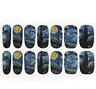 1PC Van Gogh The The Starry Sky Nail Art Stickers 14 To Stick All Posted