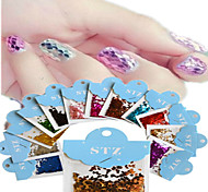 1set Includ 12 colors Paper Card Nail Art Glitter Lozenge Shape Stickers Nail Art Decoration