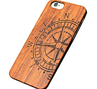 caso ultra sottile di legno grande bussola protettiva copertura posteriore dura iphone PC per il iPhone SE / 5s iphone / iphone 5