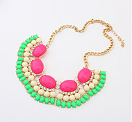 Necklace Pendant Necklaces Jewelry Rose / Black / Blue / Green / Pink Alloy Party / Daily / Casual 1pc Gift