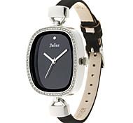 Julius®  Women Watch Korea Fashion Waterproof Leather Belt Design Rhinestone Schoolgirl Wristwatch JA-298 Cool Watches Unique Watches