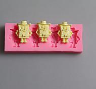 Spongebob Shape Chocolate Silicone Molds,Cake Molds,Soap Molds,Decoration Tools Bakeware