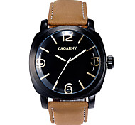 GACARNY 6833 Ladies' Fashion Black Case PU Leather Band Analog Quartz Wrist Dress Watch (Assorted Color)