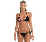 FuLang   Bikinis Set   Beach swimsuit   fashion   personality  sexy  backless  Personality 3D beauty printing  SC040