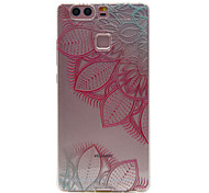 TPU Material Rose Leaves Pattern Slim Phone Case for Huawei P9 Lite/P9