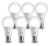 IENON® 6 pcs 9W E26/E27 LED Globe Bulbs A60(A19) 1 COB 850-900 lm Cool White Decorative AC 100-240 V