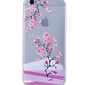 TPU Material Glow in the Dark Translucent Plum Flower Relief Soft Protection Phone Case for iPhone 5/5S/SE