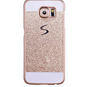 Для Samsung Galaxy S7 Edge С узором Кейс для Задняя крышка Кейс для Сияние и блеск PC SamsungS7 edge / S7 / S6 edge plus / S6 edge / S6 /