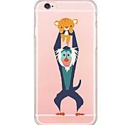для Iphone 7 задняя крышка прозрачный корпус / ультра-тонкий мультфильм TPU iphone softapple SE / 5с / 5