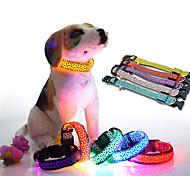 New Adjustable Pet Cat Dog Glow LED Leopard Collar Light Up Luminous