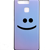 TPU Material Smile Black Slim Painted Soft cellphone Case for Huawei Ascend P9/P9 Lite