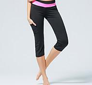 Per donna Corsa Semi-lungo Pantalone/Sovrapantaloni 3/4 Collant/Corsari Leggings Pantaloni Traspirante Autunno InvernoYoga Pilates