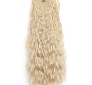 Yellow Deep Wave Lace Wig Corn Hot Ponytails 22