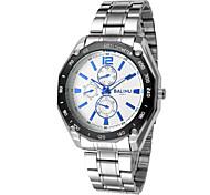 L.WEST Men's fashion leisure steel band watch