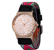 Men's Woven Nylon Strap Clovers Quartz Watch