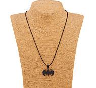 South Korea Alloy Stainless Steel Black Batman Pendant Necklace