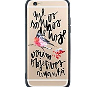 iPhone 6s Plus/6/iPhone 6s/6 TPU Soft Writing Back Cover