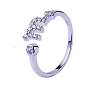 Ring,925 Sterling Silver Adjustable Wedding / Party / Daily / Casual Jewelry Silver / Sterling Silver Couple Rings 1pc,Adjustable Silver