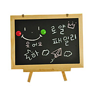 The Three Pillars of Portable Type Small Double the Blackboard, Children's Drawing Board, Magnetic Tablet