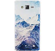 Para Funda Samsung Galaxy Congelada / En Relieve Funda Cubierta Trasera Funda Paisaje Suave Silicona J5