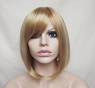 Europe And The United States  Golden Dyed Polyester Middle-Aged And Old Wig BOBO 10 Inch