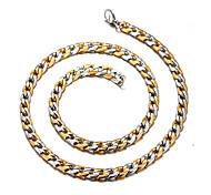 Necklace Chain Necklaces Jewelry Daily / Casual Fashion Titanium Steel Gold 1pc Gift