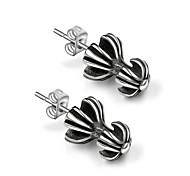 Earring Flower / Cross / Toy Shape Stud Earrings Jewelry Couples Fashion Casual Titanium Steel 1pc Silver