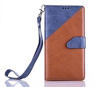 Corpo Completo carteira / Entrada de Cartão / com suporte / Giro Teste padrão geométrico Couro Ecológico Duro Case Capa Para Samsung