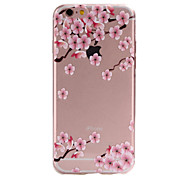 For iPhone 6 Case / iPhone 6 Plus Case Ultra-thin / Transparent / Pattern Case Back Cover Case Flower Soft TPU for iPhone 6s Plus/6 Plus