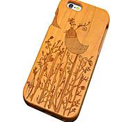 Ciliegi in legno uccello scolpita protettiva copertura posteriore iphone caso duro per il iphone SE / iphone 5s / iphone 5