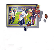 Cartoon / People Sports  Football  Wall Stickers Abstract / Fantasy  3D Wall Stickers Plane Wall Stickers,pvc 100*70cm