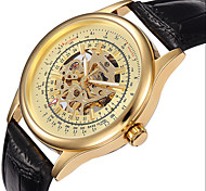 FORSINING Semi-Automatic Mechanical Watch Flying Sisc Fashion Punk Hollow Out Men's Watch