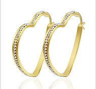 Earring Round Jewelry Women Fashion Party / Daily / Casual Titanium Steel 1 pair Gold