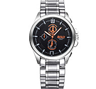 Men's Wrist watch Quartz Casual Watch Stainless Steel Band Silver