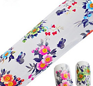 1pcs 100cmx4cm Glitter Nail Foil Sticker Lovely Cartoon Beautiful Flower Nail Decorations DIY Beauty STZXK01-05
