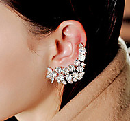 Lady's Alloy Rhinestone Ear Jewelry Earcuffs for Lady Party Casual