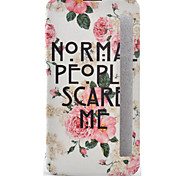 Peony Painted Voltage Holster PU Material Clamshell Phone Cover for LG G5/K10