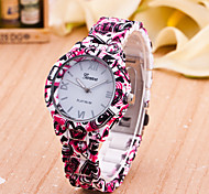 Women's New European Style Fashion Printing Heart Wrist Watch