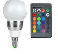 3W E14 Bombillas LED de Globo A50 1 LED de Alta Potencia 100-200 lm RGB Control Remoto AC 85-265 V 1 pieza