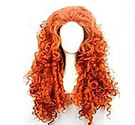 Fashion Cartoon Curly Red Hair