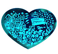 BlueZOO Love Blue Nail Art Stamping (26)